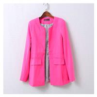 Slimming Long Sleeves One Color Fall Suit Coat - beenono.com