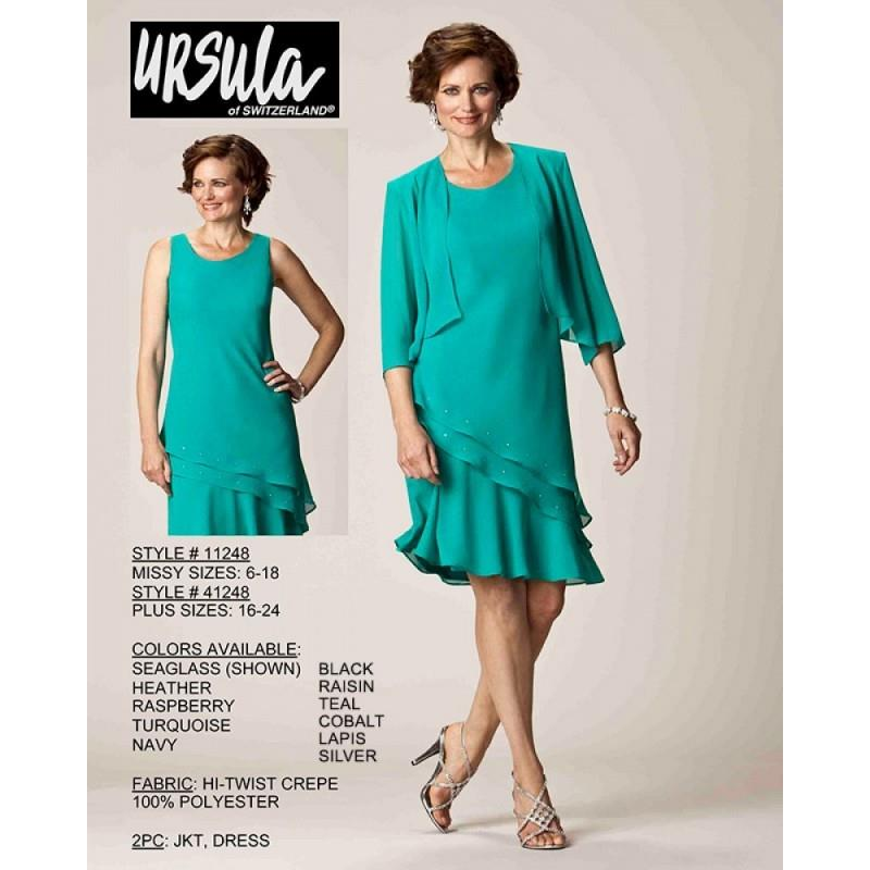 My Stuff, Ursula of Switzerland 11248 Dress - Ursula of Switzerland A Line Knee Length Social and Ev