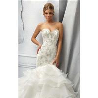 Ivory Beaded Layered Mermaid Gown Angelina Faccenda by Mori Lee - Color Your Classy Wardrobe
