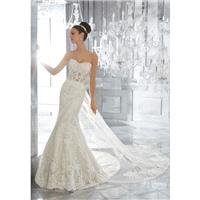 Morilee by Madeline Gardner Fall/Winter Marni 5572 Elegant Detachable Ivory Sweetheart Sheath Tulle