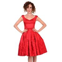 Red Pleated Taffeta Cocktail Dress by Muammer Ketenci - Color Your Classy Wardrobe