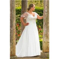 Plus-Size Dresses Style BB17517 by BB+ by Special Day - Ivory  White Chiffon Floor V-Neck A-Line Sho