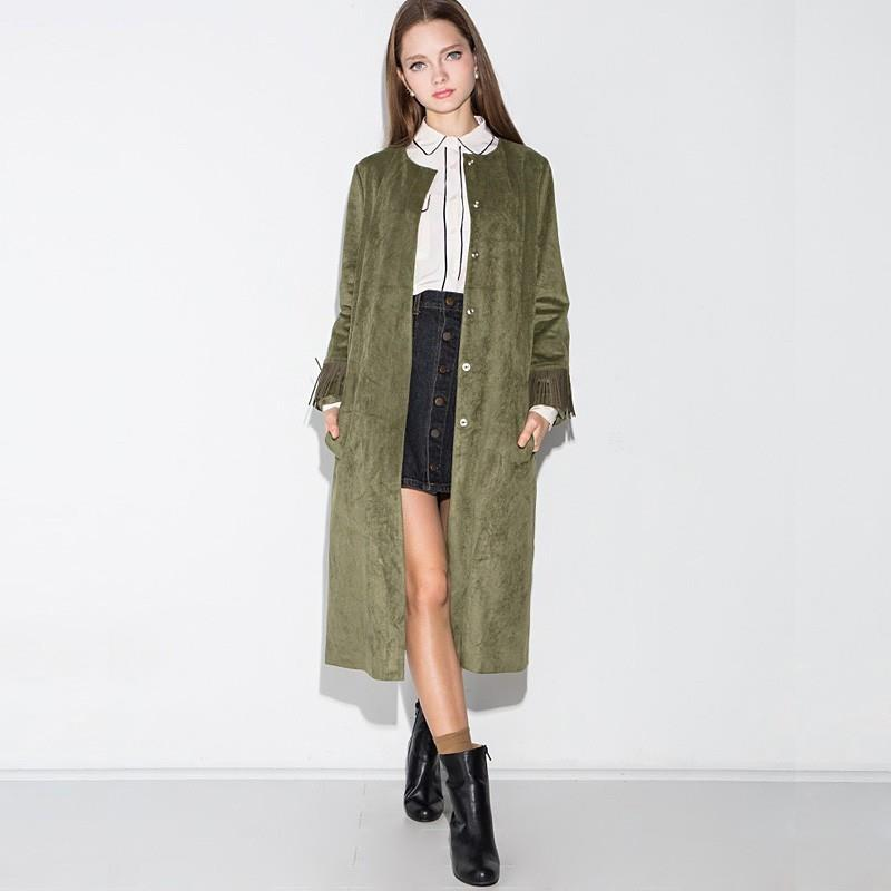 My Stuff, Casual Vogue Fringe Split Front Slimming Long Sleeves Winter Coat Overcoat - Bonny YZOZO B