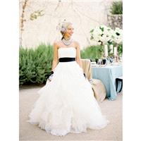 Sweep Train White Sweet Ball Gown Strapless Zipper Up with Sash Tulle Sleeveless Spring Outdoor Wedd
