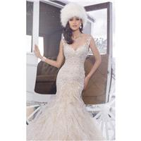 Blush/Ivory Lace Mermaid Gown by Sophia Tolli - Color Your Classy Wardrobe