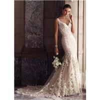 David Tutera for Mon Cheri Spring/Summer 2017 117268 Blush Chapel Train Elegant Sleeveless Mermaid L