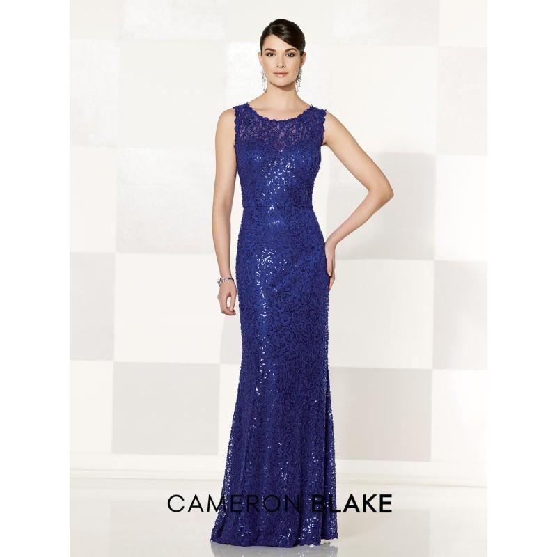 My Stuff, Cameron Blake 215633 Lace Trumpet Gown - Brand Prom Dresses|Beaded Evening Dresses|Charmin