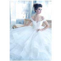 Lazaro 3309 - Ball Gown Sweetheart Natural Floor Sweep Tulle Ivory Lace - Formal Bridesmaid Dresses
