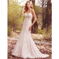 Maggie Sottero Spring/Summer 2017 Vonae Sweetheart Sweet Fit & Flare Chapel Train Ivory Lace Covered