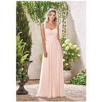 B2 by Jasmine B193002 - A-Line Pink Sweetheart Chiffon Floor Natural Lace Plus Size Available - Form