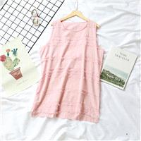 Must-have Simple Fresh Attractive Ramie One Color Summer Sleeveless Top - Discount Fashion in beenon