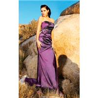 MNM Couture - 7082 Strapless Straight Across Sheath Dress - Designer Party Dress & Formal Gown
