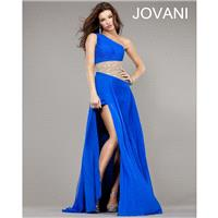 Classical New Long White One Shoulder Jovani Prom Gown 1432 New Arrival - Bonny Evening Dresses Onli
