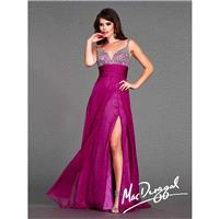 MacDuggal Flash 64430L V Neck Flowing Gown - Brand Prom Dresses|Beaded Evening Dresses|Charming Part