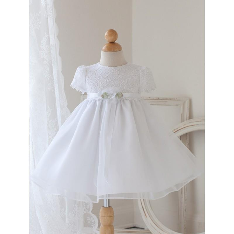 My Stuff, White Cap Sleeve Dress w/ Lace Bodice Style: DB810 - Charming Wedding Party Dresses|Unique