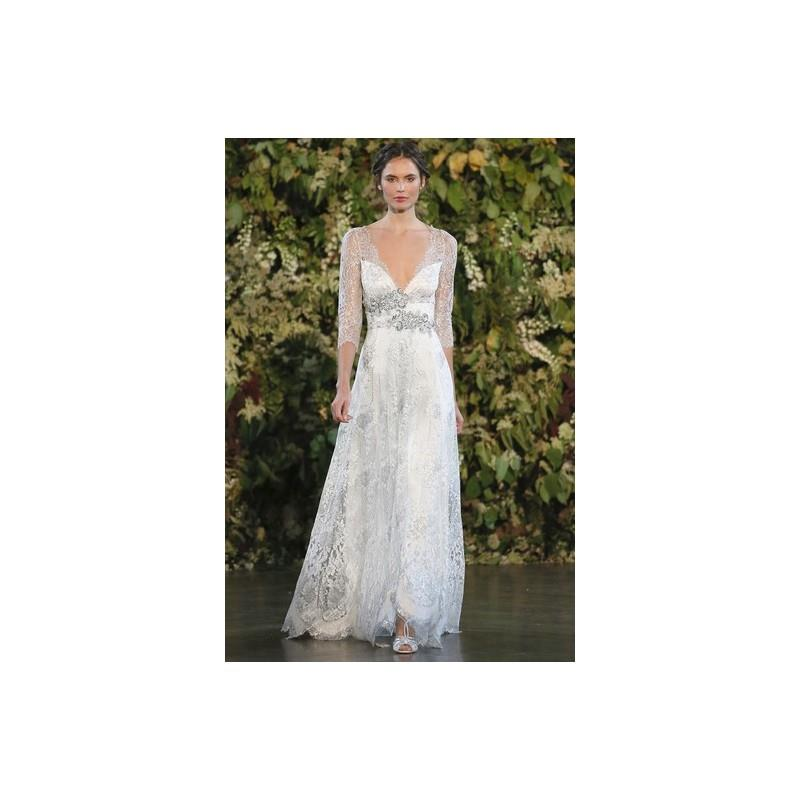My Stuff, Claire Pettibone Wedding Dress Spring 2015 Evangeline - Metallic V-Neck Spring 2015 Claire