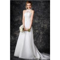 Style GA2260 by Kenneth Winston%3A Gallery - Halter Semi-Cathedral Floor length LaceOrganza Sleevele