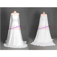 2016 long chiffon wedding gowns with sweep train,unique simple bridal dresses in white,cheap chic  w