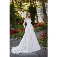 Victoria Soprano 2017 Rosalia 10918 Illusion Chapel Train Ball Gown Long Sleeves Sweet Ivory Tulle A