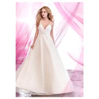 Alluring Tulle Halter Neckline A-line Wedding Dresses with Beadings & Rhinestones - overpinks.com
