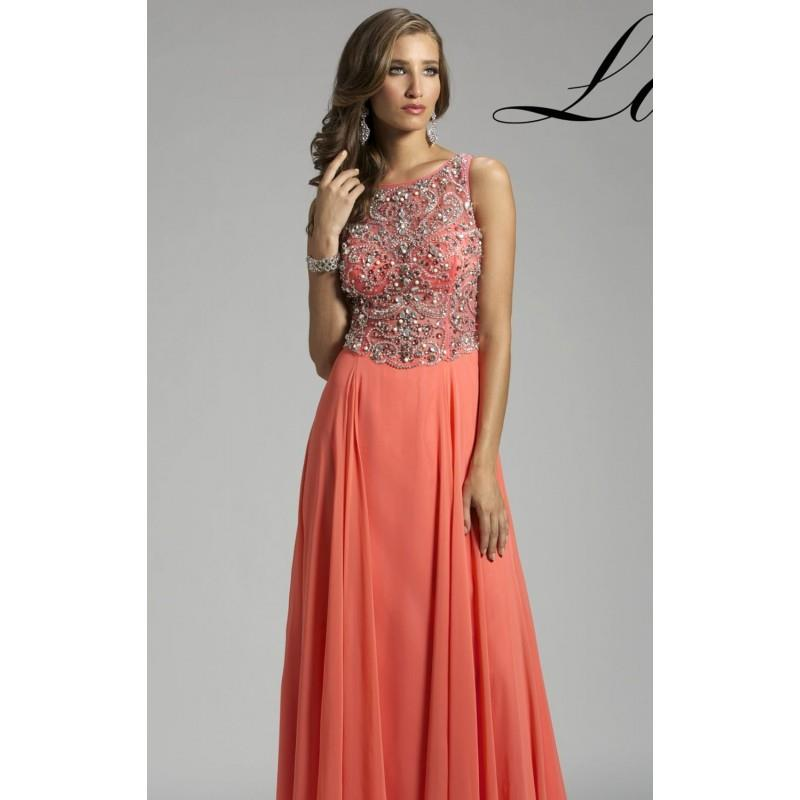 My Stuff, Coral Beaded Embellished Gown by Lara Designs - Color Your Classy Wardrobe