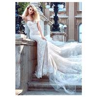 Amazing Lace & Tulle Spaghetti Straps Neckline Mermaid Wedding Dress With Beadings - overpinks.com