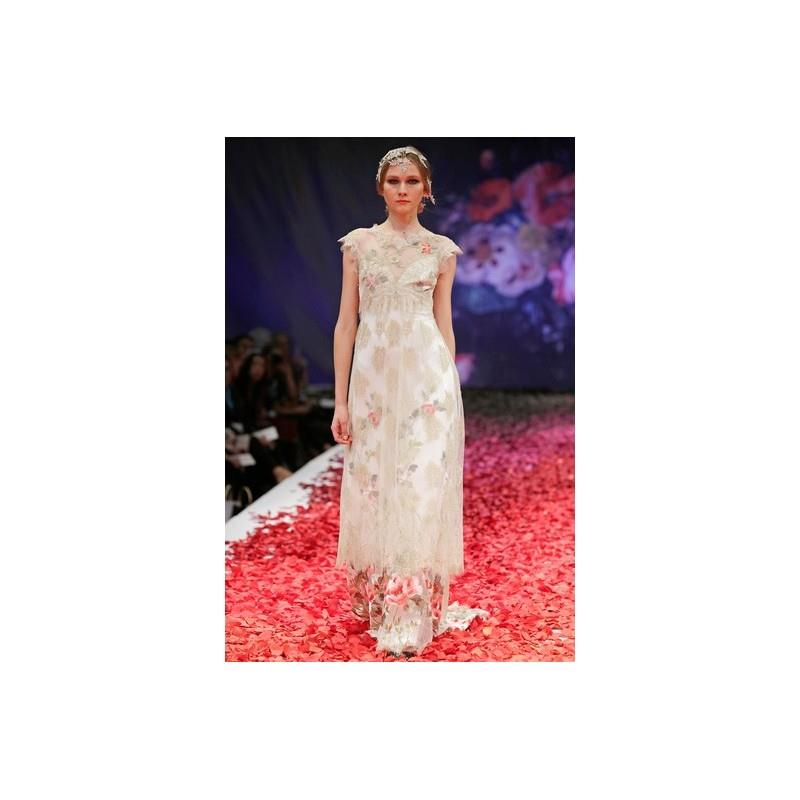 My Stuff, Claire Pettibone FW14 Dress 13 - Full Length Fall 2014 Ivory Claire Pettibone Sheath - Rol
