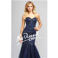 Embellished Strapless Tulle Mermaid Gown by Mac Duggal Couture 78843D - Bonny Evening Dresses Online