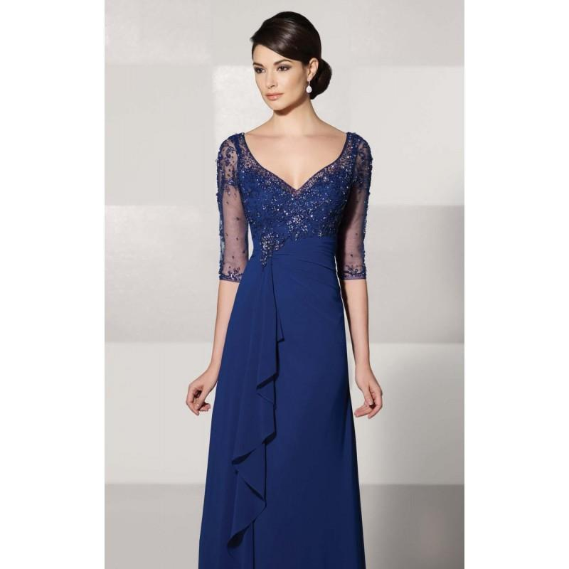 My Stuff, Georgette Chiffon Gown by Cameron Blake 214689W - Bonny Evening Dresses Online