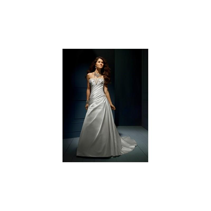 My Stuff, Sapphire by Alfred Angelo Wedding Dress Style No. 844C - Brand Wedding Dresses|Beaded Even