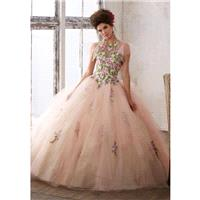 Vizcaya 89124 Floral High Neck Quinceanera Dress - Brand Prom Dresses|Beaded Evening Dresses|Charmin
