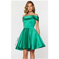 Emerald Off-The-Shoulder Dress by ASHLEYlauren - Color Your Classy Wardrobe