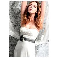 Gorgeous Chiffon Sweetheart Neckline Natural Waistline A-line Wedding Dress With Beaded Lace Appliqu