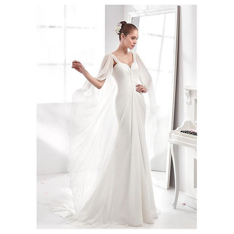 My Stuff, Alluring Chiffon Sweetheart Neckline Mermaid Wedding Dresses with Beadings and Rhinestones