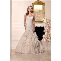 Style 6285 by Stella York - Chapel Length Floor length LaceOrganza Fit-n-flare Sweetheart Sleeveless