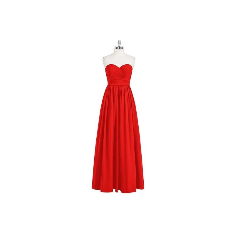 My Stuff, Red Azazie Jada - Back Zip Chiffon Sweetheart Floor Length - Charming Bridesmaids Store