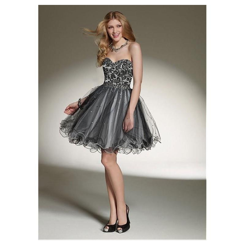 My Stuff, Amazing Lace & Tulle & Satin A-line Sweetheart Neck Raised Waist Homecoming Dress - overpi