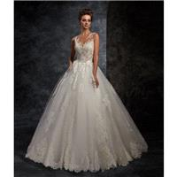 Ira Koval 2017 623 Covered Button Appliques Illusion Lace Ivory Sleeveless Outdoor Ball Gown Sweet S