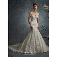 Sophia Tolli Fall/Winter 2017 Y21740 Lynx Chapel Train Mermaid Lace Ivory Sweet Embroidery Sleeveles
