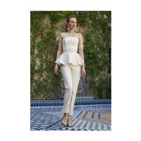 Stephanie Allin Couture - 2013 - Beaded Lace Wedding Jumpsuit with Peplum - Stunning Cheap Wedding D