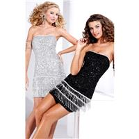 Black/Silver Hannah S 27696 - Sequin Dress - Customize Your Prom Dress