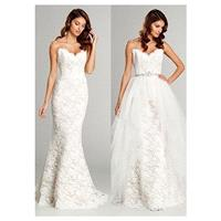 Elegant All-over Lace & Tulle Sweetheart Neckline Natural Waistline 2 In 1 Wedding Dress With Beadin
