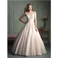Champagne/Silver Allure Bridals 9114 Allure Bridal - Rich Your Wedding Day