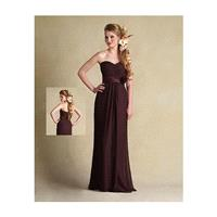 Stunning chiffon Sheath Sweetheart Long Bridesmaid Dress - overpinks.com
