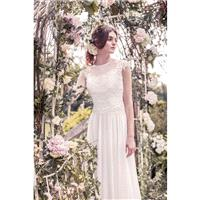 Snow by Annasul Y. 2017 sa3361b Garden Chapel Train Chiffon Illusion Ivory Sweet Appliques Spring Al
