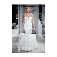 Pnina Tornai for Kleinfeld - 2014 - Style 4277 Strapless Beaded Lace Mermaid Wedding Dress - Stunnin