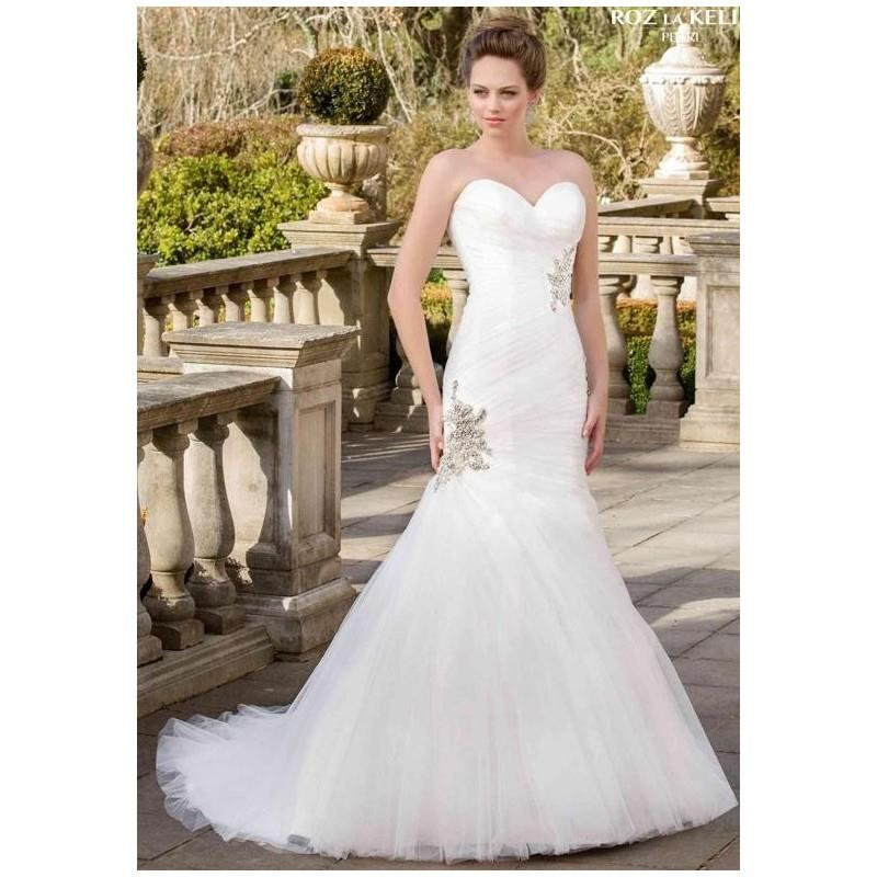 wedding, Roz la Kelin - Pearl Collection Jayne 5707T Wedding Dress - The Knot - Formal Bridesmaid Dr