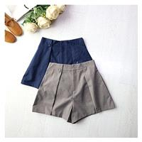 Casual High Waisted Zipper Up Edgy Wide Leg Pant Short - Discount Fashion in beenono