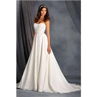 Style 2562 by Alfred Angelo Signature Collection - Chapel Length ChiffonLaceSatin A-line Strapless S