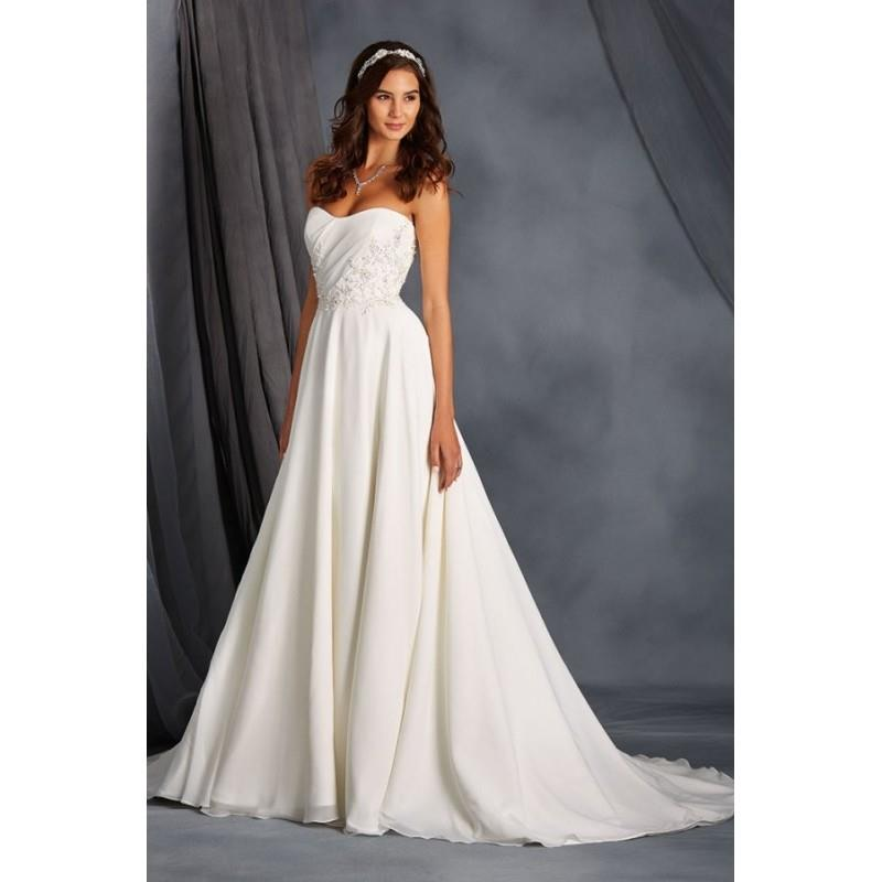 My Stuff, Style 2562 by Alfred Angelo Signature Collection - Chapel Length ChiffonLaceSatin A-line S
